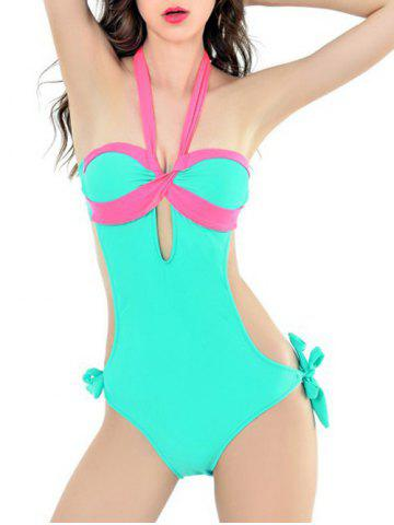 Shops Halter One Piece Swimsuit With Padded Bra