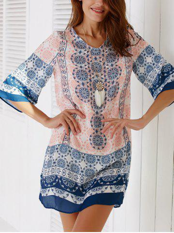 Outfits Ethnic V-Neck Tribal Tunic Dress