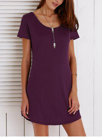 Best Cut Out Summer Casual Shift Dress With Sleeves