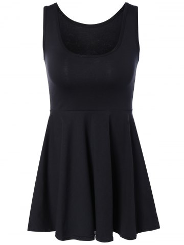 New Sweet Pure Color Sleeveless Dress For Women