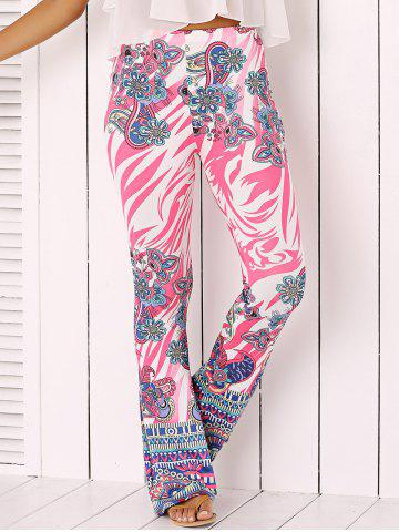 Affordable Chic Flower Print Flare Pants