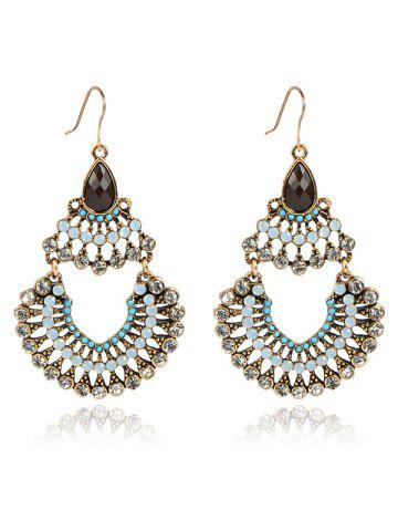 Shop Rhinestoned Hollow Out Drop Earrings
