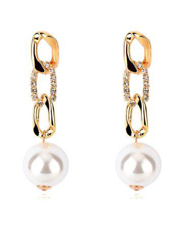 Unique Delicate Rhinestoned Faux Pearl Earrings