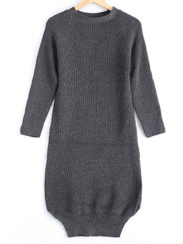 Best Street Snap Style Pure Color Long Sweater