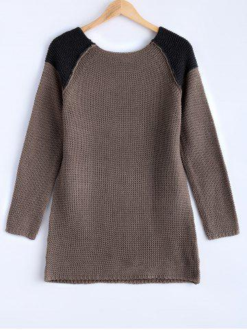 Latest Chic High-Low Hit Color Sweater