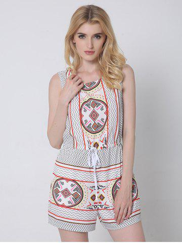 Store Ethnic Style Tribal Pattern Backless Romper