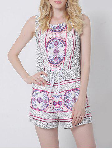 Affordable Ethnic Style Tribal Pattern Backless Romper