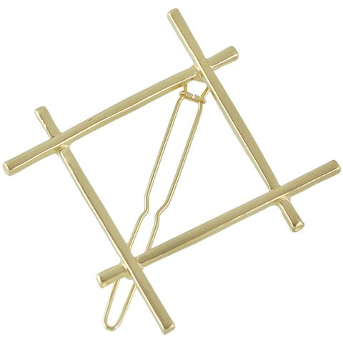 Unique Stylish Cut Out Gold Plated Solid Color Hashtag Sign Hairpin For Women - GOLDEN  Mobile
