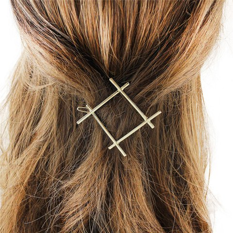 Trendy Stylish Cut Out Gold Plated Solid Color Hashtag Sign Hairpin For Women GOLDEN