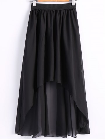 Hot Women's Chiffon Pleated Elastic Waist Dovetail Skirt
