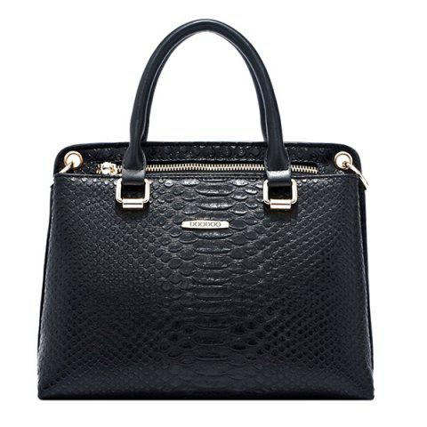 Outfit Trendy Metal and Embossing Design Tote Bag For Women