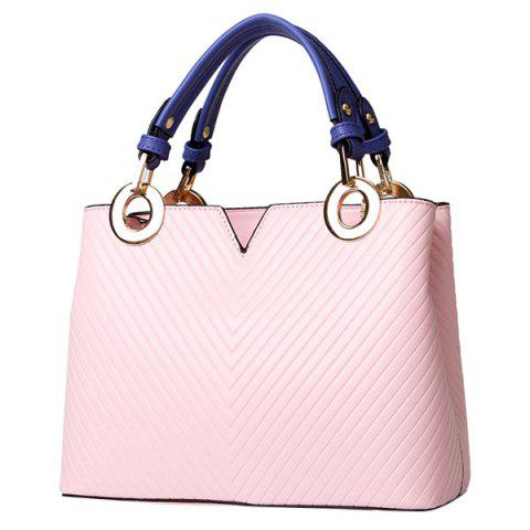 Shop Stylish Metal Ring and Color Block Design Tote Bag For Women