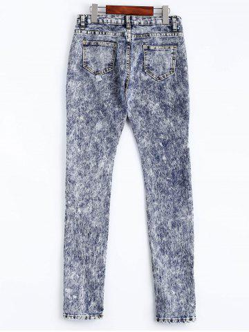 Hot Snow Wash Skinny Jeans - L COLORMIX Mobile