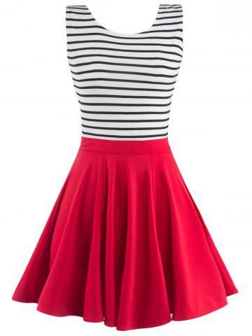 Affordable Fashionable Sleeveless Striped Dress For Women