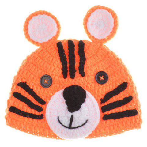 New Yarn Knitted Tiger Shape Photography Clothes Set For Baby - ORANGE  Mobile
