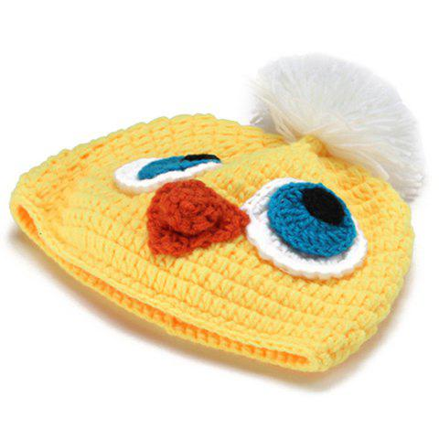 Unique Knitted Duck Animal 3PCS Photography Baby Clothes Set - YELLOW  Mobile
