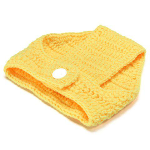 Chic Knitted Duck Animal 3PCS Photography Baby Clothes Set - YELLOW  Mobile
