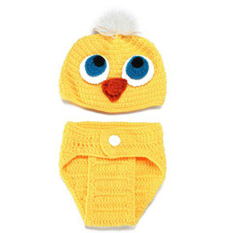 Trendy Knitted Duck Animal 3PCS Photography Baby Clothes Set - YELLOW  Mobile