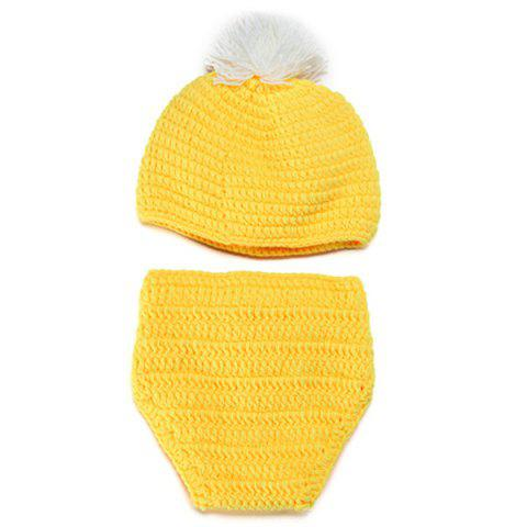 Buy Knitted Duck Animal 3PCS Photography Baby Clothes Set - YELLOW  Mobile
