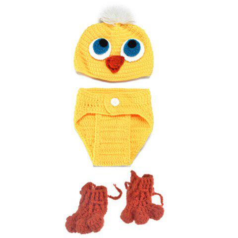 New Knitted Duck Animal 3PCS Photography Baby Clothes Set