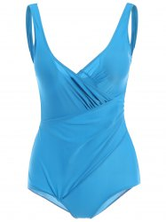 Deep V Neck Open Back One Piece Swimsuit