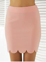 Fashionable Knee-Length Solid Color Bodycon Skirt -