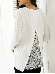 Elegant Round Neck Long Sleeve Solid Color Blouse -