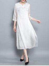 Slit Tea Length Dress -