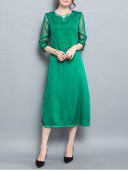 Slit Tea Length Dress