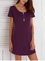 Cut Out Summer Casual Shift Dress With Sleeves
