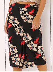 Floral Printed Midi Skirt - COLORMIX