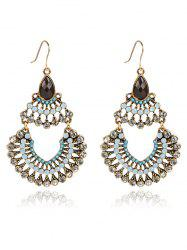 Rhinestoned Hollow Out Drop Earrings -