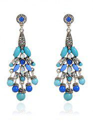 Noble Rhinestone Beaded Earrings