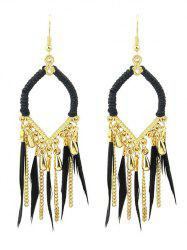 Bohemian Style Water Drop Feather Earrings