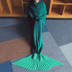 Chic Quality Green Ombre Knitting Mermaid Shape Blanket