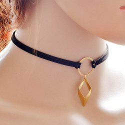 Punk Style Circle Geometric Choker -