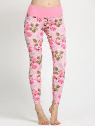 Trendy Women's Floral Print Yoga Leggings