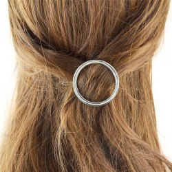 Chic Style Cut Out Rough Circle Alloy Hairpin For Women -