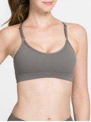 Simple Women's Pure Color Hollow Out Bra -