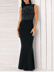 Floor Length Rhinestone Mermaid Fishtail Long Prom Dress