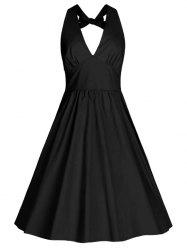 Back Bowknot Swing Cocktail Dress -
