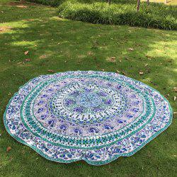 Green Indian Elephant Beach Throw
