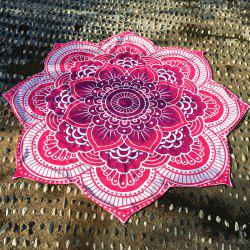 Flower Shape Beach Throw