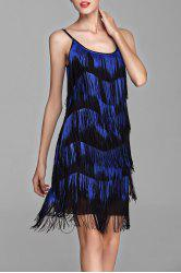 Stripe Tassel Mini Cami Dress -
