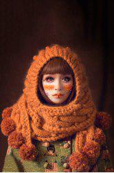 Knitted Extra Long Cloak Hat