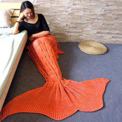 Knitted Braid Mermaid Tail Style Blanket For Adult -