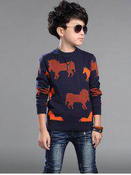 Horses Printed Sweater For Boy -