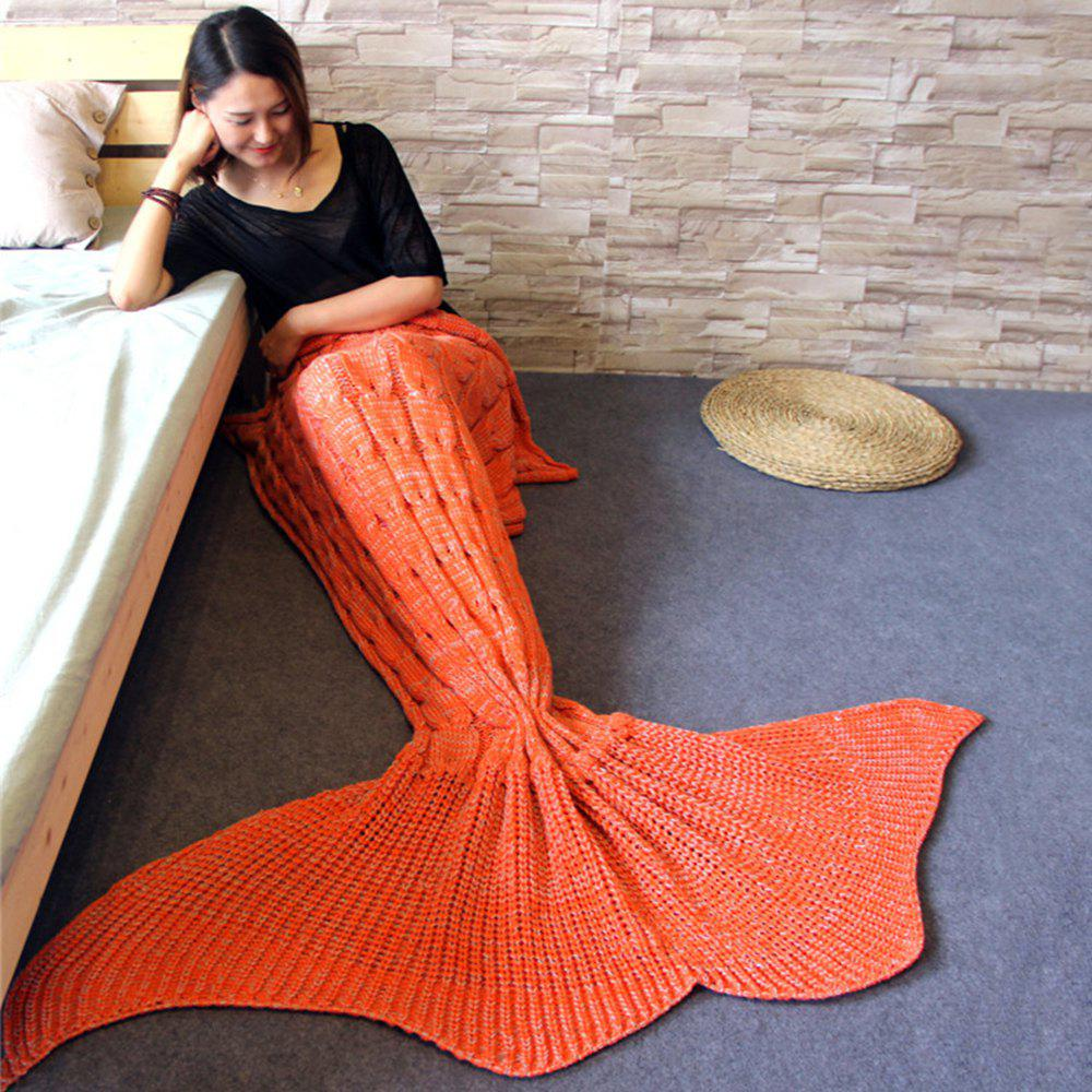 Outfits Knitted Braid Mermaid Tail Style Blanket For Adult