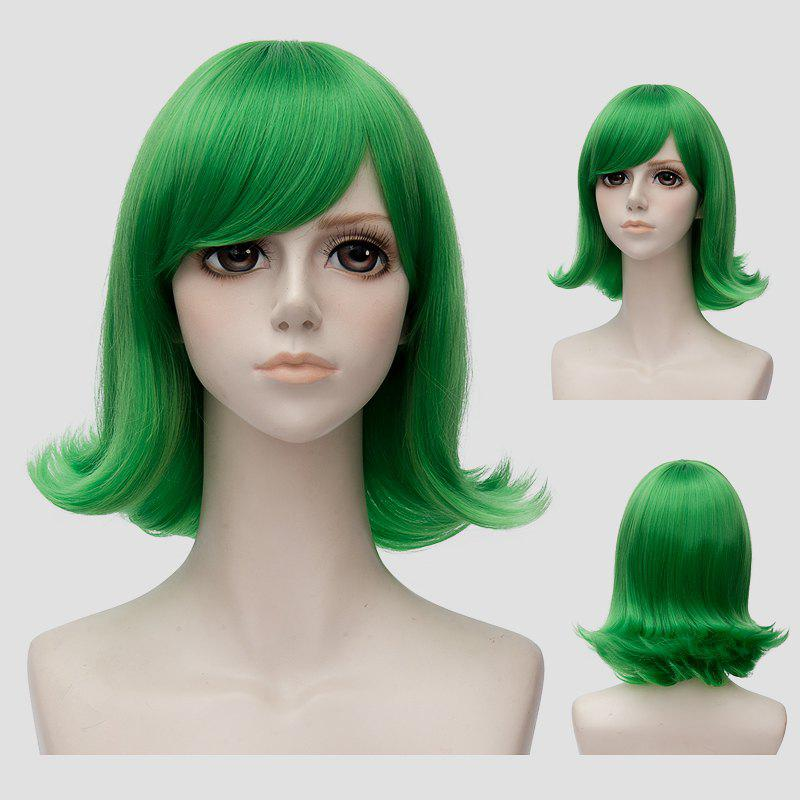 Fashion Fluffy Straight Short Green Anti Alice Hair Film Character Cosplay WigHAIR<br><br>Color: GREEN; Type: Full Wigs; Style: Straight; Material: Synthetic Hair; Bang Type: Side; Length: Short; Length Size(CM): 30; Weight: 0.250kg; Package Contents: 1 x Wig;