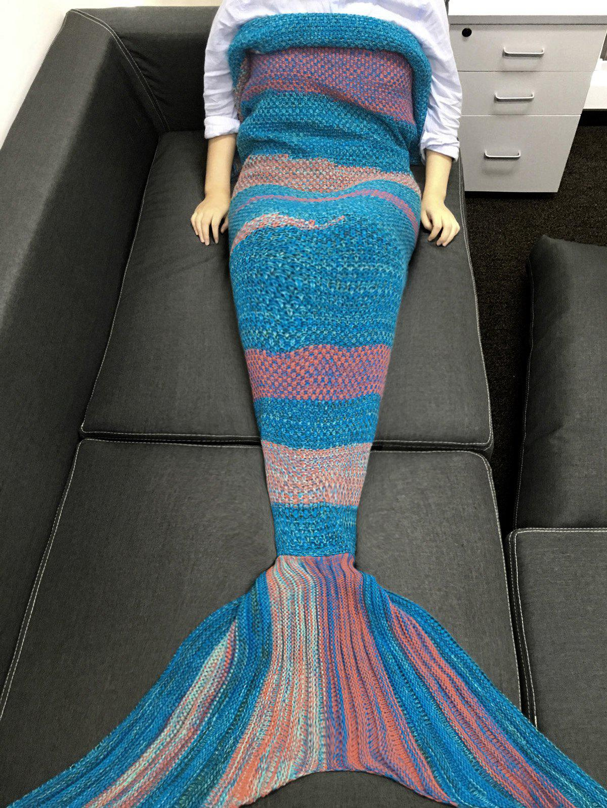 Outfit High Quality Super Soft Crochet Knitted Mermaid Tail Sofa Blanket